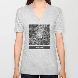 Austin map Unisex V-Neck