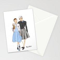 Prep School Girls fashion illustration  Stationery Cards