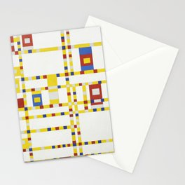 Broadway Boogie Woogie (High Resolution) Stationery Cards