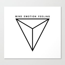 MIND EMOTION FEELING Canvas Print