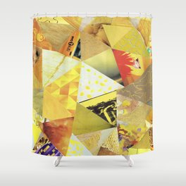 Collage - They Call Me Mellow Yellow Shower Curtain