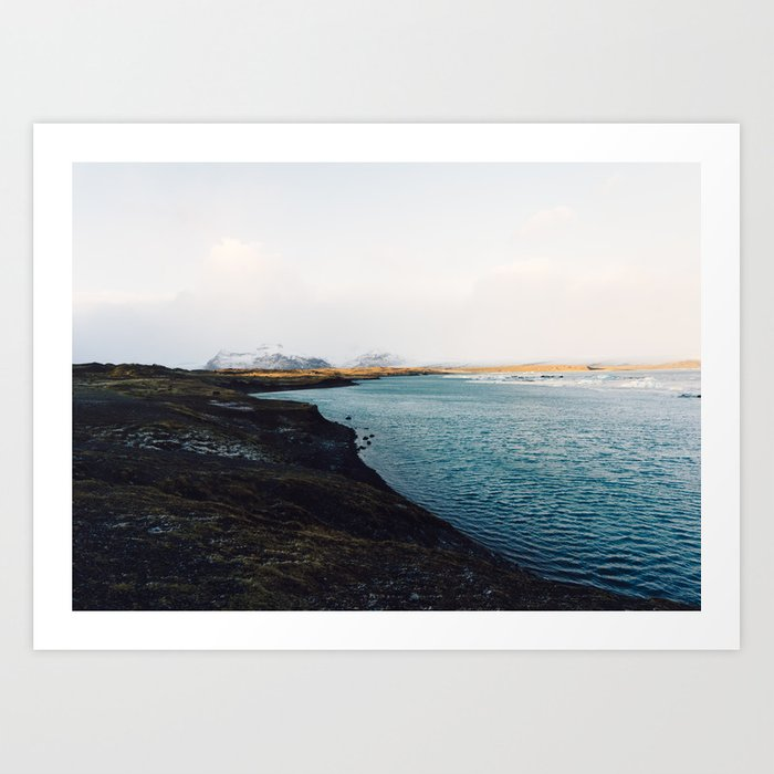 From the other side, Jökulsárlón, Iceland Art Print Art Print