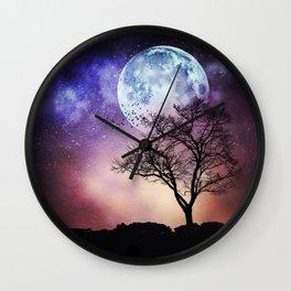 Moon and Tree Wall Clock
