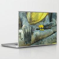 thailand Laptop & iPad Skins featuring Buddha in Thailand by Maria Heyens