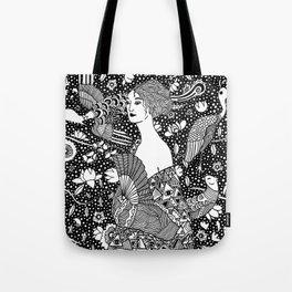 Gustav Klimt - Lady with fan Tote Bag