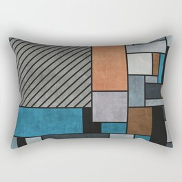 Colorful random pattern - blue, grey, brown Rectangular Pillow