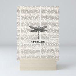 NEWSPAPER SASSENACH 2 Mini Art Print