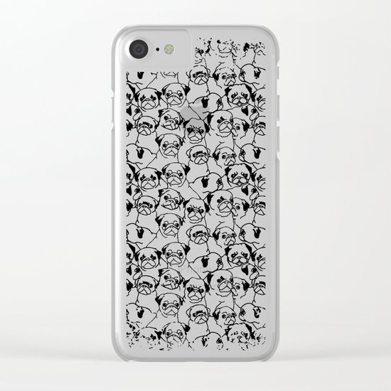 Oh Pugs Clear iPhone Case