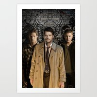 supernatural Art Prints featuring Supernatural by SB Art Productions