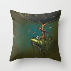 Apple Ninja Throw Pillow