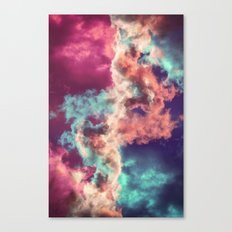 Yin Yang Painted Clouds Canvas Print