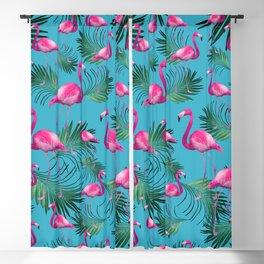 Summer Flamingo Palm Vibes #2 #tropical #decor #art #society6 Blackout Curtain