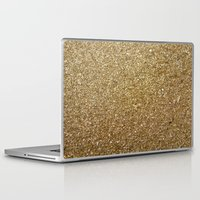rose gold Laptop & iPad Skins featuring Gold by Rose Wierts