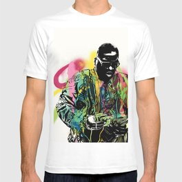 Biggie Smalls Spray Paint Illustration T-shirt