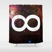 bioshock infinite Shower Curtains featuring Infinite by Sney1