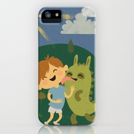 Attack of the Dinobunny! iPhone Case
