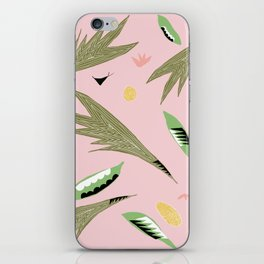 Pink Jungle Motif iPhone Skin