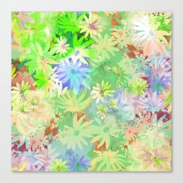 A bed of flowers. Canvas Print