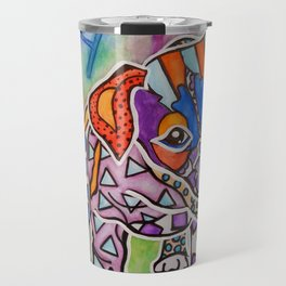 Rocky Parson Jack Russell Terrier Hounds Labrador Dog Puppy Red Pet Design Colorful Bright Love Travel Mug