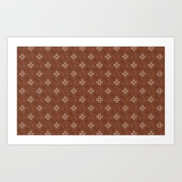 mudcloth crosses - brandywine Art Print