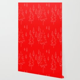 Holiday Trees diffused Wallpaper