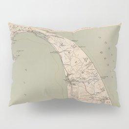 Vintage Map of Lower Cape Cod (1891) Pillow Sham