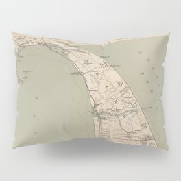 Vintage Map of Lower Cape Cod (1891) Pillow Sham