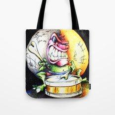 Green Drummer Crazy Mask Tote Bag