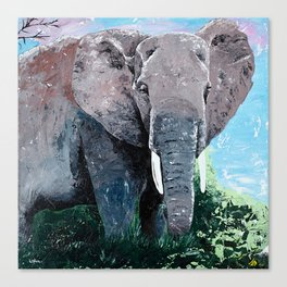 Animal - The big elephant - by LiliFlore Canvas Print