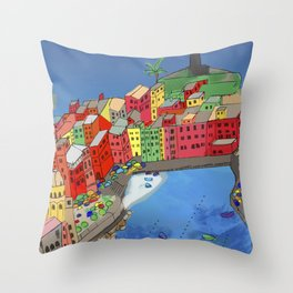 Towns of Italy Throw Pillow