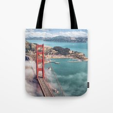 golden gate bridge in san francisco Tote Bag