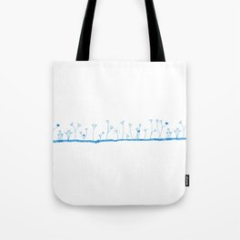 Lawn of hearts Tote Bag