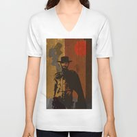 blondie V-neck T-shirts featuring Blondie by Rabassa