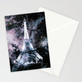 Paris Dreams Pale Pink & Blue Galaxy Stationery Cards
