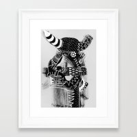 cow Framed Art Prints featuring COW by Benson Koo