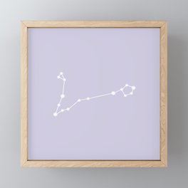 Pisces Zodiac Constellation - Lavender Framed Mini Art Print