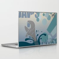 jaws Laptop & iPad Skins featuring Jaws! by LivingIllustrations