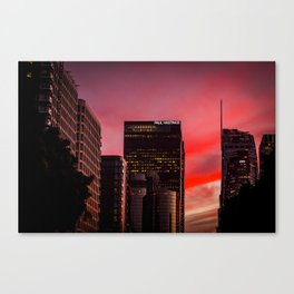 Skyscapes in Los Angeles Canvas Print