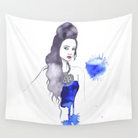 fashion illustration Wall Tapestries featuring fashion illustration by RD D