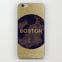vintage map iPhone & iPod Skins featuring map by go_alexxa_go