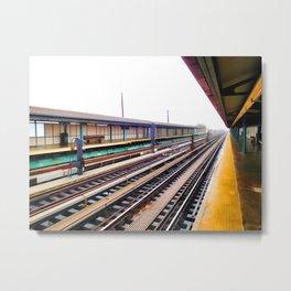 A platform view Metal Print