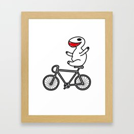 WIT bike riding Framed Art Print