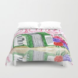 Accordion with roses Duvet Cover