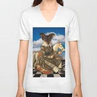 dahlia V-neck T-shirts featuring Dahlia by Marsha Kerns Chez