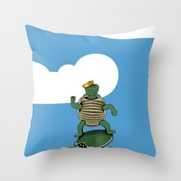 Yertle The Turtle Throw Pillow