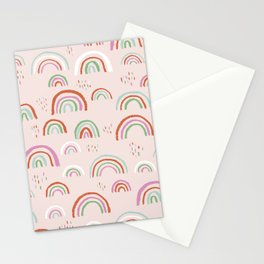 Colorful rainbows magic dreams kawaii sky kids Stationery Cards