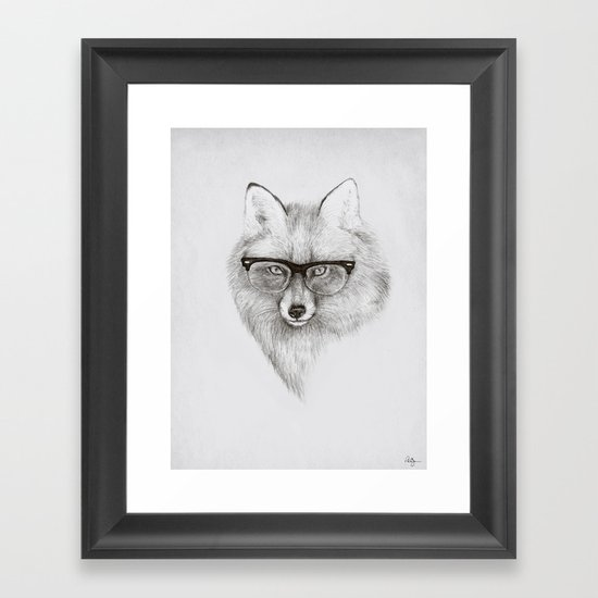 Fox Specs Framed Art Print