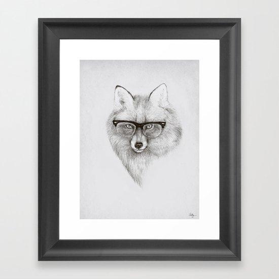Fox Specs Framed Art Print