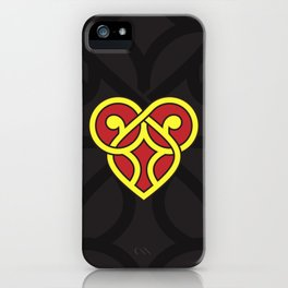 Celtic Heart Design - Red and Yellow iPhone Case