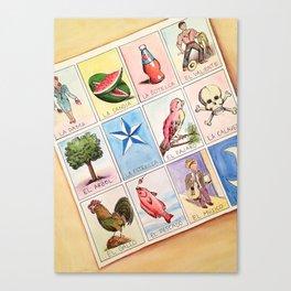 Loteria Canvas Print